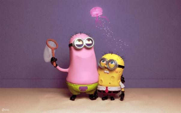 Minions-fantasiados-Bob-Esponja