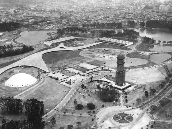 Inauguração do Parque do Ibirapuera, em 1954. Foto: Oswaldo Luiz Palermo/Estadão