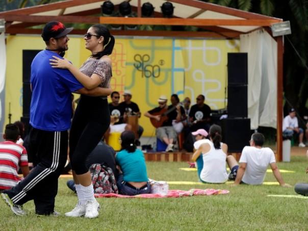 Público participa de atividades no Parque do Ibirapuera (Foto: Fernando Pilatos/TV Globo)