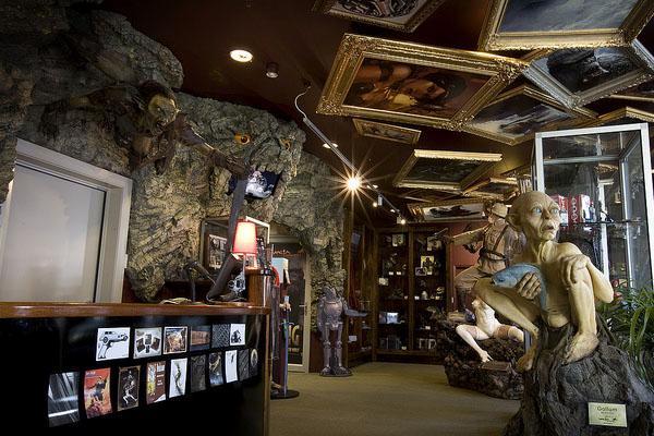 Interior da The Weta Cave