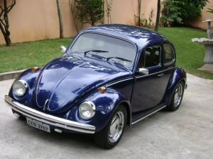 Volkswagem Fusca azul escuro