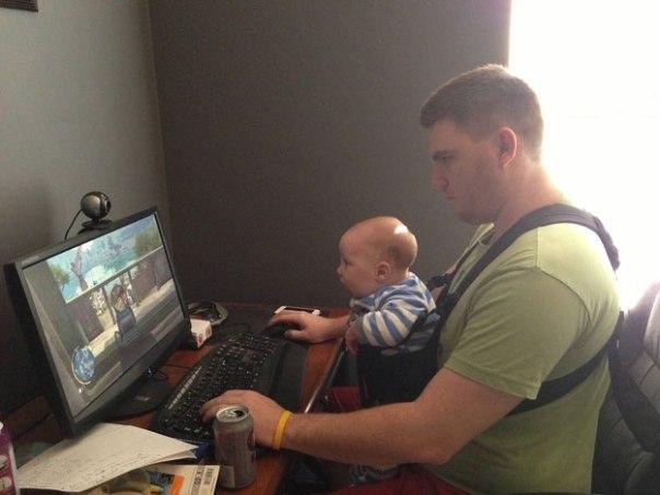 1- Eles não podem receber a tarefa de vigiar o bebê