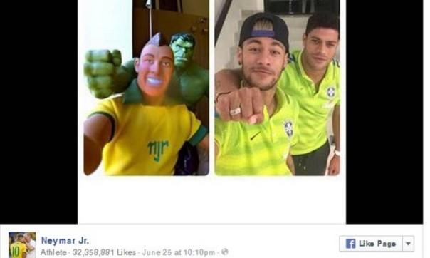 Neymar é o jogador mais popular durante a Copa do Mundo - Reprodução