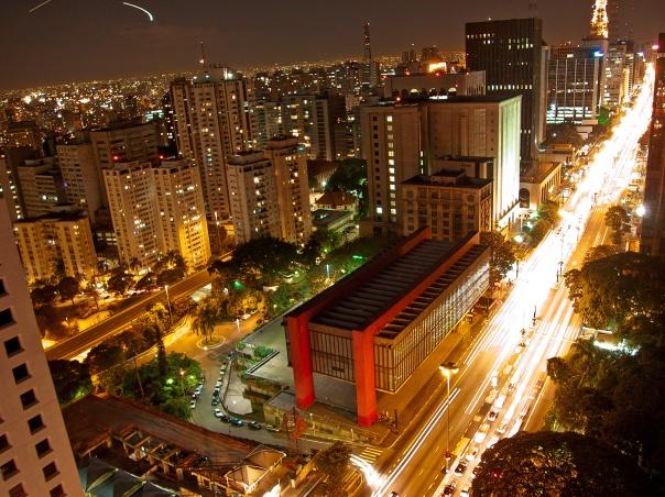 Vista aérea do MASP, na Avenida Paulista.