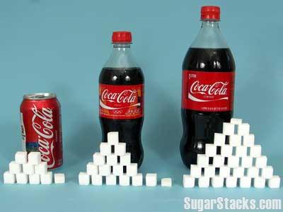 Quantidade de açúcar contida em cada embalagem
